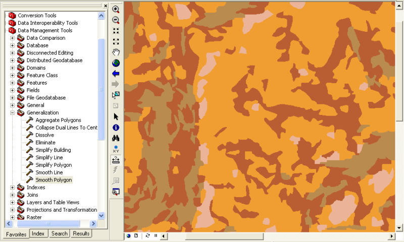 Simplify or generalize polygons in ArcGIS