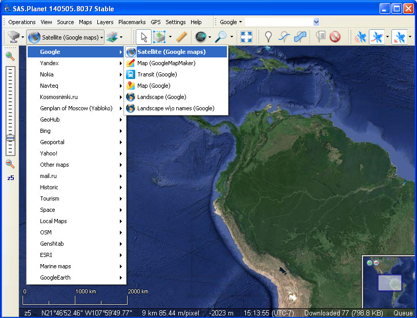 browse the area of interest select the map server with the selection manager tool draw the surface download