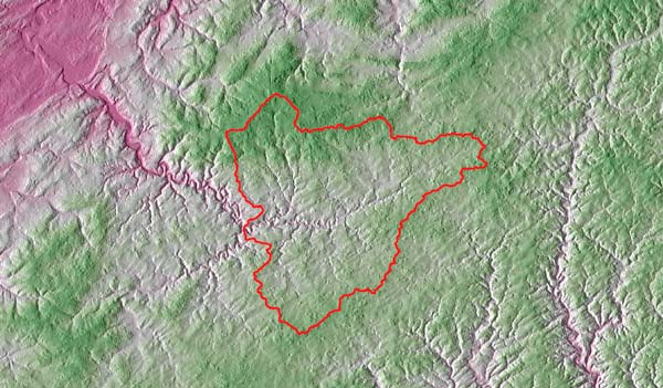 Catchment delineation with QGIS
