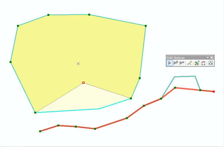 Fix line and polygon coordinates in ArcGIS