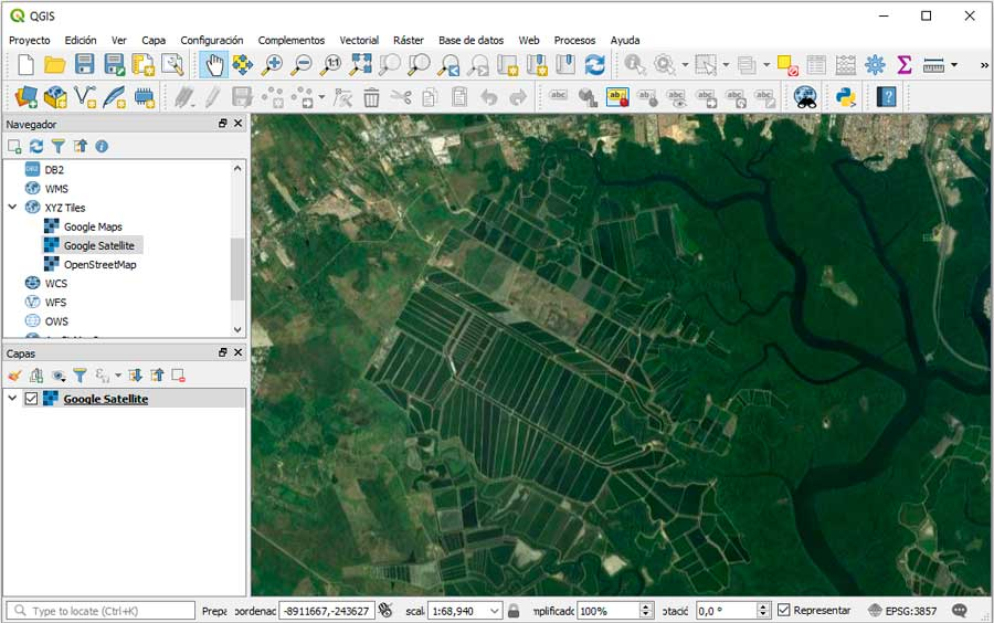 How to add Google Maps layers in QGIS 3 – GeoGeek D Satellite Maps Google Earth on
